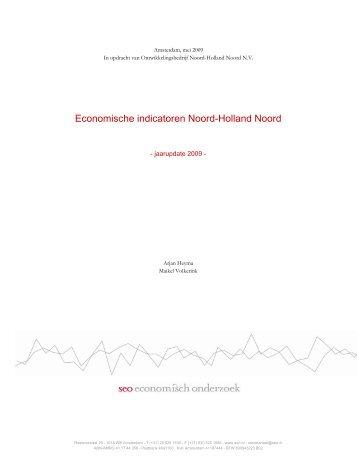Economische indicatoren Noord-Holland Noord - SEO Economisch ...