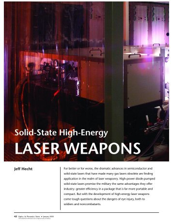 Solid-State High-Energy LASER WEAPONS