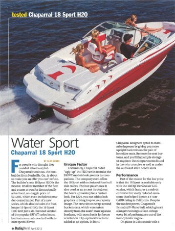 Water Sport ::: Boating World - Chaparral Boats Owners Club