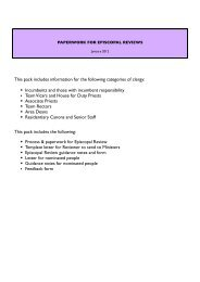 Episcopal Reviews - paperwork - Diocese of Gloucester
