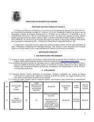 Edital de Abertura de Concurso Público nº 003/2012 - Prefeitura de ...
