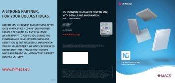 HI-MACS Image brochure - BD Online Product Search