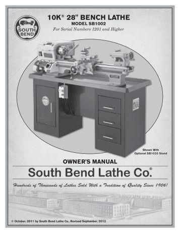 South bend 9 lathe maintenance manual