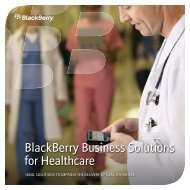 BlackBerry Business Solutions for Healthcare