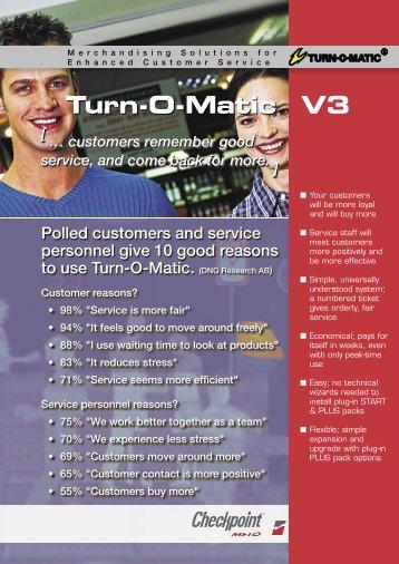 TOM V3 overview 2005-09.indd - Take A Number