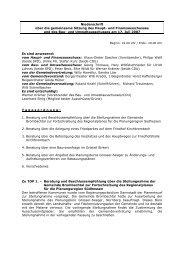 Niederschrift über die gemeinsame Sitzung des ... - Brombachtal