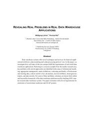 revealing real problems in real data warehouse ... - CiteSeerX