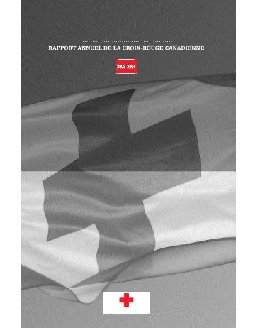RAPPORT ANNUEL DE LA CROIX-ROUGE CANADIENNE