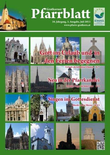 Pfarrblatt Ausgabe 3/2013 - Pfarre Gratkorn St. Stefan