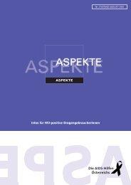 Aspekte Nr. 27 - Die Aidshilfen Österreichs