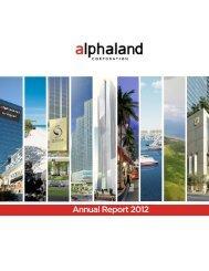 Annual Report 2012 - Alphaland Corporate