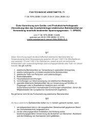 Verordnung über das Inverkehrbringen elektrischer ... - ZLS