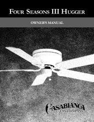 Four Seasons III Hugger 05 - Casablanca Fan