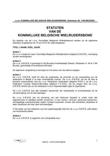 STATUTEN VAN DE KONINKLIJKE BELGISCHE ... - Kbwb