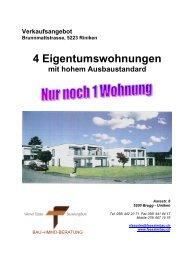 4 Eigentumswohnungen - Bau- und Immoberatung