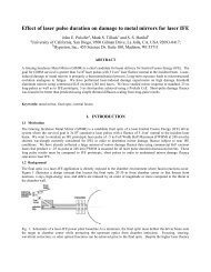 Effect of laser pulse duration on damage to metal mirrors for laser IFE