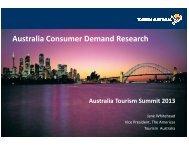 Australia Consumer Demand Research - Tourism Australia