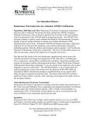 AS9100 Certification - Renaissance Electronics Corporation