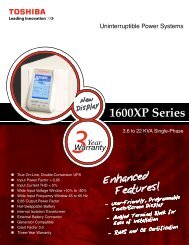 1600XP Series Brochure