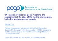 UN Regular process for global reporting and assessment of ... - POGO