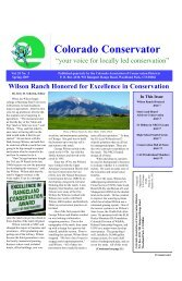 Colorado Conservator - Make Your Own Website - Fast and Easy