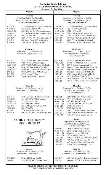 Sep 1 - Dec 30, 2013 (PDF) - Rochester Public Library