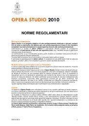 OPERA STUDIO 2010 - Accademia Nazionale di Santa Cecilia