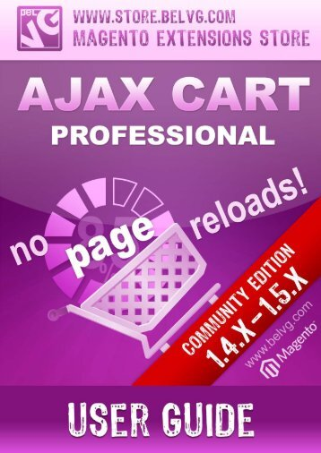 Ajax Cart Professional - BelVG Magento Extensions Store