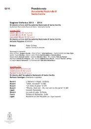 Stagione Sinfonica 2013 - 2014 - Accademia Nazionale di Santa ...
