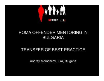 roma offender mentoring in bulgaria transfer of best practice