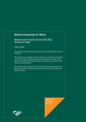 Marine and Coastal Access Bill - National Assembly for Wales