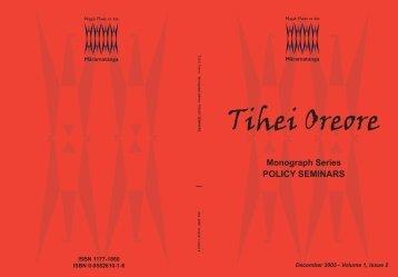 Policy Seminars - Ngā Pae o te Māramatanga