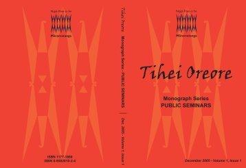 Public Seminars - Ngā Pae o te Māramatanga