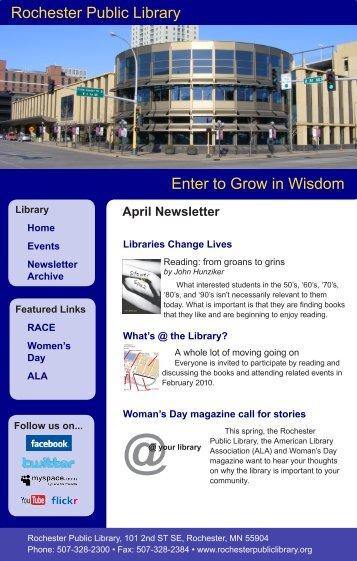 April - Rochester Public Library