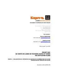projet b2c de vente en ligne de fichiers audio et ... - Carole Gresse