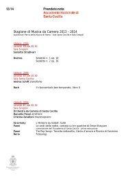 scegli fra i concerti da Camera - Accademia Nazionale di Santa ...