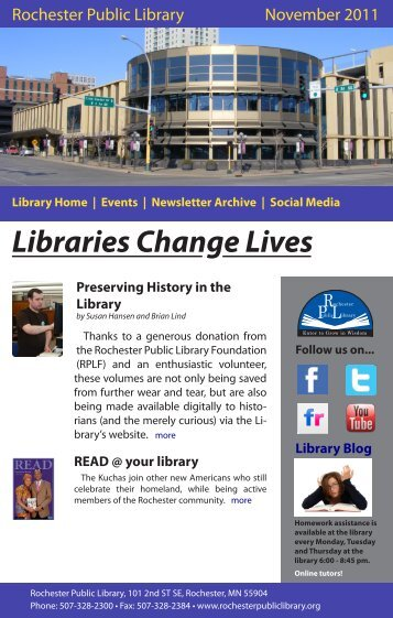 Events | Newsletter Archive - Rochester Public Library