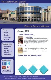 January - Rochester Public Library