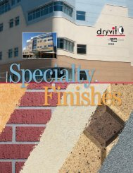 Specialty Finishes Brochure - Continuous Insulation - Dryvit