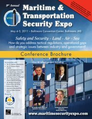 Maritime & Transportation Security Expo - TV Worldwide