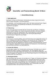 Geschäfts- u. Finanzordnung - Bezirk 10 Bonn