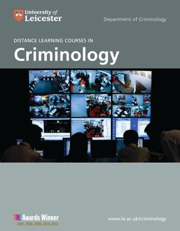 Distance Learning Brochure - University of Leicester