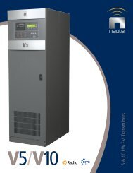 5 & 10 kW FM Transmitters - Nautel
