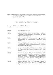 Deliberazione Giunta Regionale n. 443 - Integrazione Migranti
