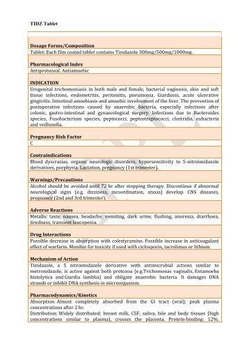 tidz-300mg tablet - Lomus Pharmaceuticals Pvt. Ltd.