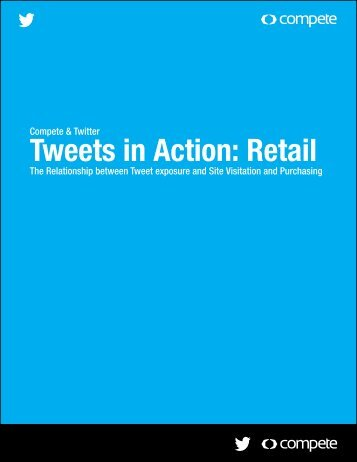 """""""Tweets in Action: Retail"""" study"""