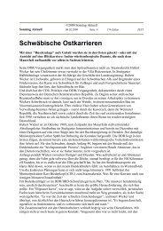 Schwäbische Ostkarrieren - Uwe Roth