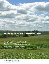 Milking Nature's Bottom Line - Center for a Better Life