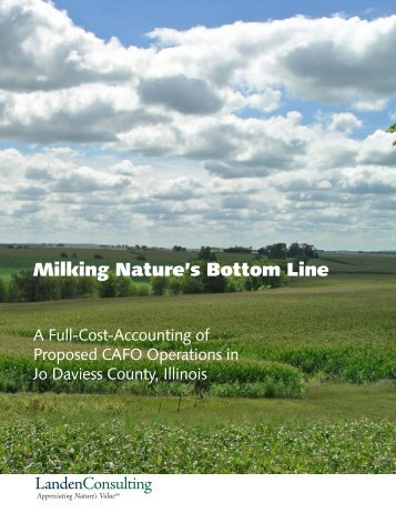 Milking Nature's Bottom Line - Center for a Better Life