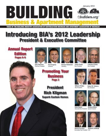 Introducing BIA's 2012 Leadership - HBA of Southeastern Michigan